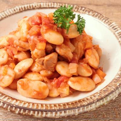 白花豆のトマト煮込み