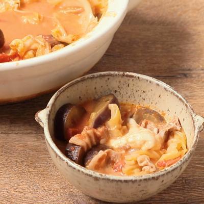 丸ごとモッツァレラのミルフィーユトマト鍋