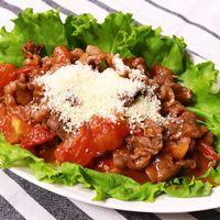 牛肉とトマトのイタリアン風炒め