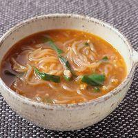 麻婆しらたきスープ