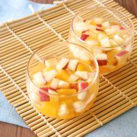 簡単デザート りんごと桃のとろとろゼリー