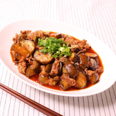 豚肉とナスのコチュジャン炒め