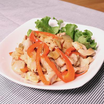 鶏肉とザーサイのさっぱり炒め