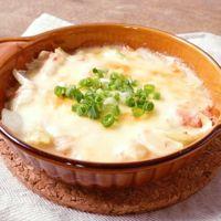 簡単 白菜とカニカマのクリームグラタン