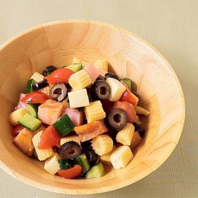 ヤングコーンのカラフルチョップドサラダ