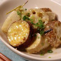 こんがり焼き根菜の味噌マスタードマリネ