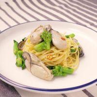 牡蠣と菜の花のペペロンチーノ
