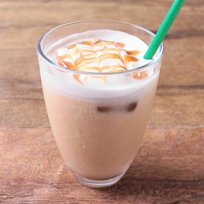 おうちでカフェ風 アイスキャラメルラテ