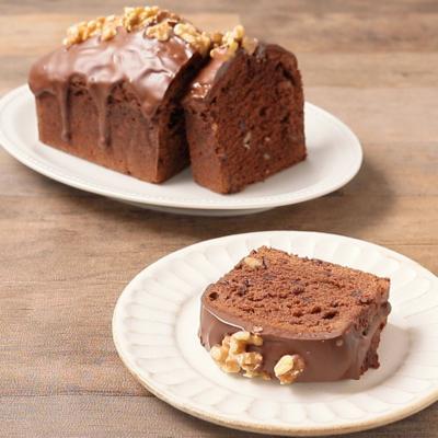ダブルチョコレートとくるみのパウンドケーキ
