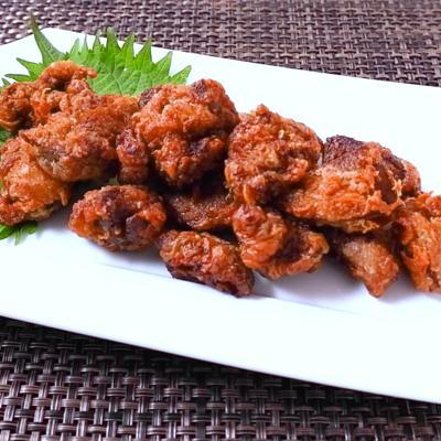 鶏レバーのピリ辛山椒唐揚げ