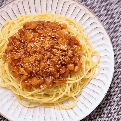 大根でかさ増し ミートソーススパゲティ