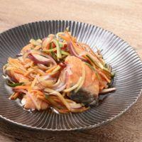ポン酢で簡単 鮭の和風エスカベージュ