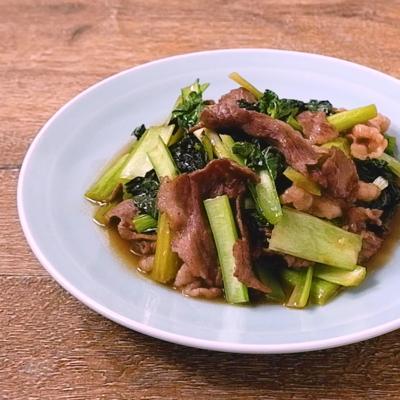雪菜と牛肉の炒め物