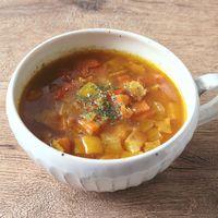 たっぷり野菜とベーコンの和風カレースープ