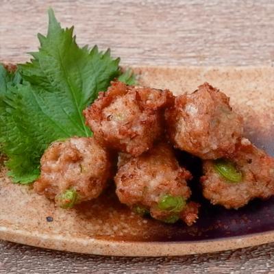 山椒香る 鶏ひき肉の揚げ団子