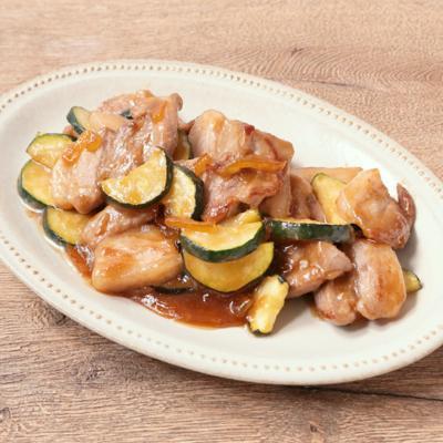 豚バラ肉とズッキーニのゆず茶味噌炒め
