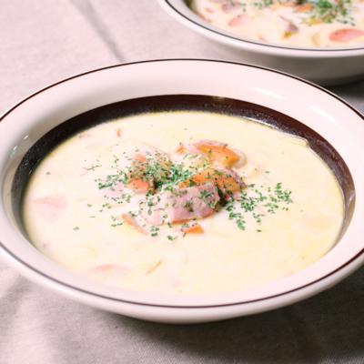野菜の旨みを丸ごと詰めた!ミルクスープ
