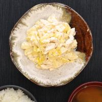 レンジで簡単 鶏ささみとキャベツのポテトサラダ
