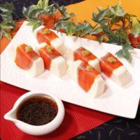 おつまみに!サーモン巻き豆腐