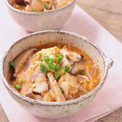 辛くて美味しい キムチ春雨スープ