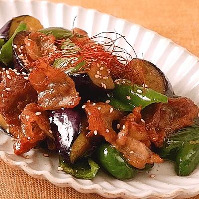 ごはんがすすむ 豚バラとナスの味噌炒め