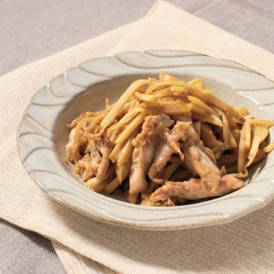 新生姜と鶏せせりの甘辛炒め