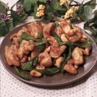 鶏もも肉とピーマンのカシューナッツ炒め