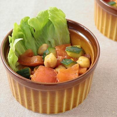 きゅうりとトマトのクミンサラダ