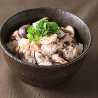 鮭とキノコの炊き込みご飯