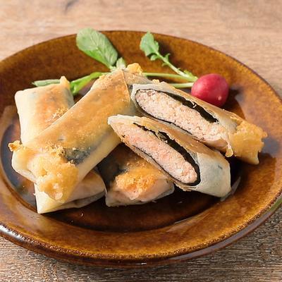 山芋とたらこチーズの焼き春巻き