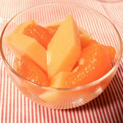 オレンジジュースで!牛乳寒天