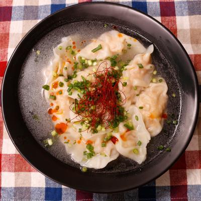 鶏ひき肉と高野豆腐のスープ餃子