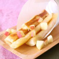 春巻の皮で りんごのスティックパイ