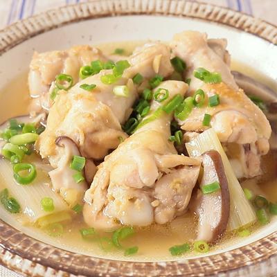 長ねぎと鶏手羽元の生姜煮