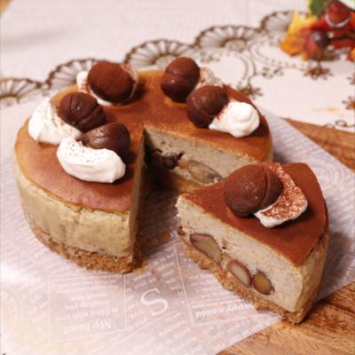 栗がごろごろ!贅沢くりのチーズケーキ
