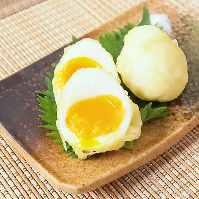 とろーり半熟卵の天ぷら