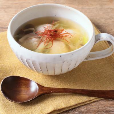 鶏団子中華スープ