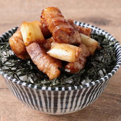 花椒香る 豚肉とねぎの甘辛丼