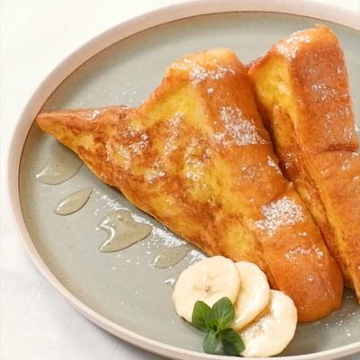 半熟バナナのフレンチトースト