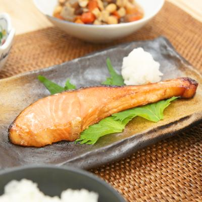 オーブントースターで 鮭の幽庵焼き