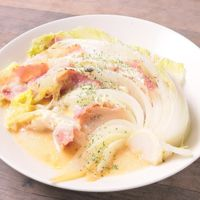 ベーコンと白菜のチーズ焼き
