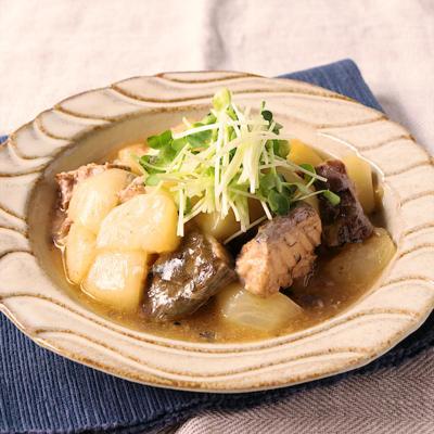 サバ缶で時短レシピ カブのほっこり煮物
