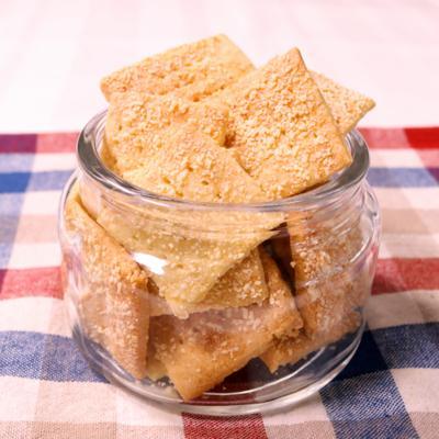 ホットケーキミックスで簡単!チーズクラッカー