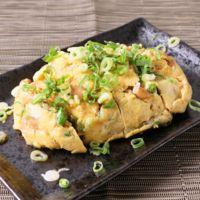 レンジで作るピリ辛青唐辛子と納豆の卵蒸し