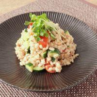 プチプチ食感 もち麦の和風サラダ