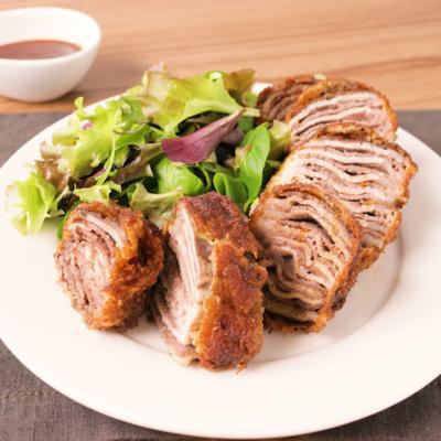 牛豚薄切り肉のミルフィーユカツ