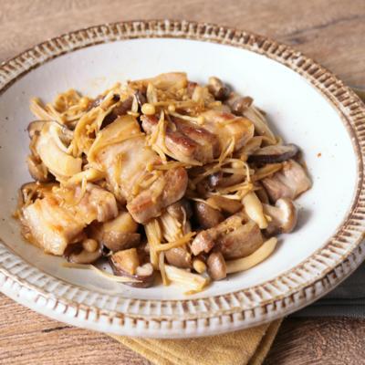 ご飯がすすむ 豚バラきのこ炒め