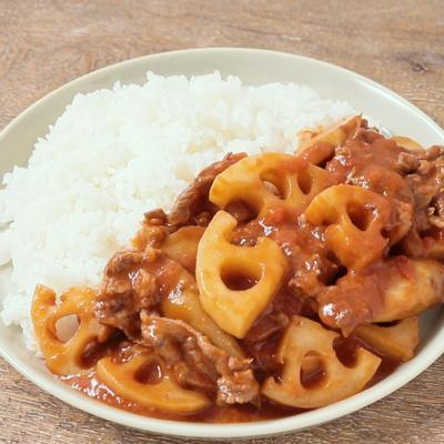 食感楽しい 根菜たっぷりハヤシライス
