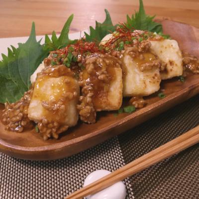 少量の油で作れる!揚げ焼き豆腐