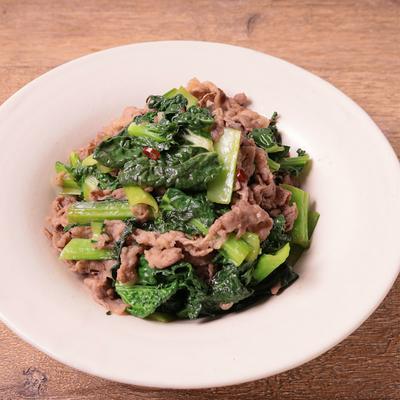 雪菜と牛肉のさっぱり炒め